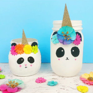 Pandacorn Unicorn Mason Jar Craft thumbnail