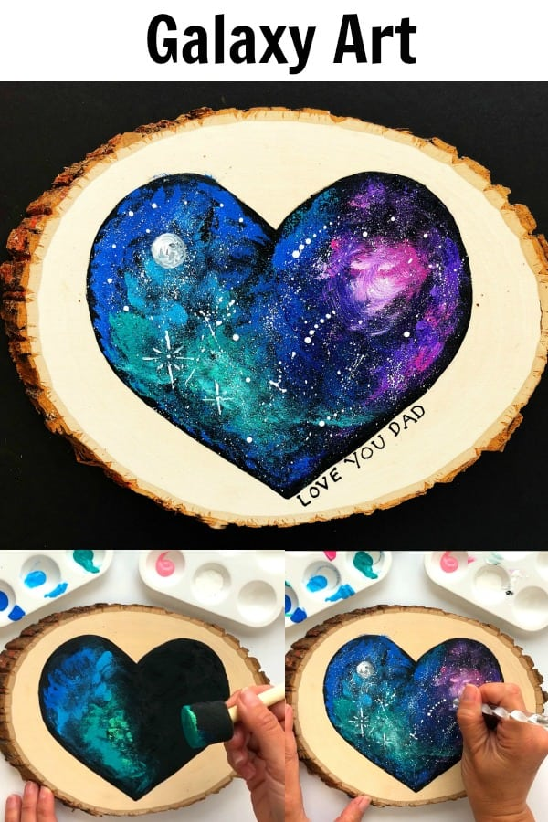 Father's Day Handmade Gift - Galaxy Art