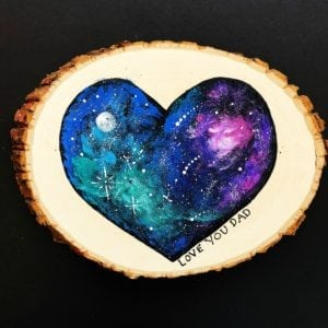 Handmade Father's Day Gift – Galaxy Painting thumbnail