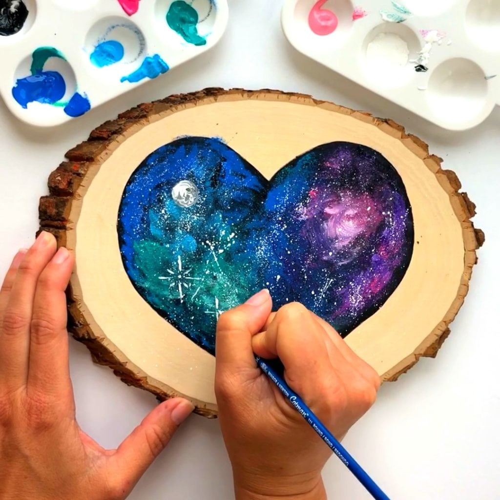 Handmade Father's Day Gift Galaxy Painting Art