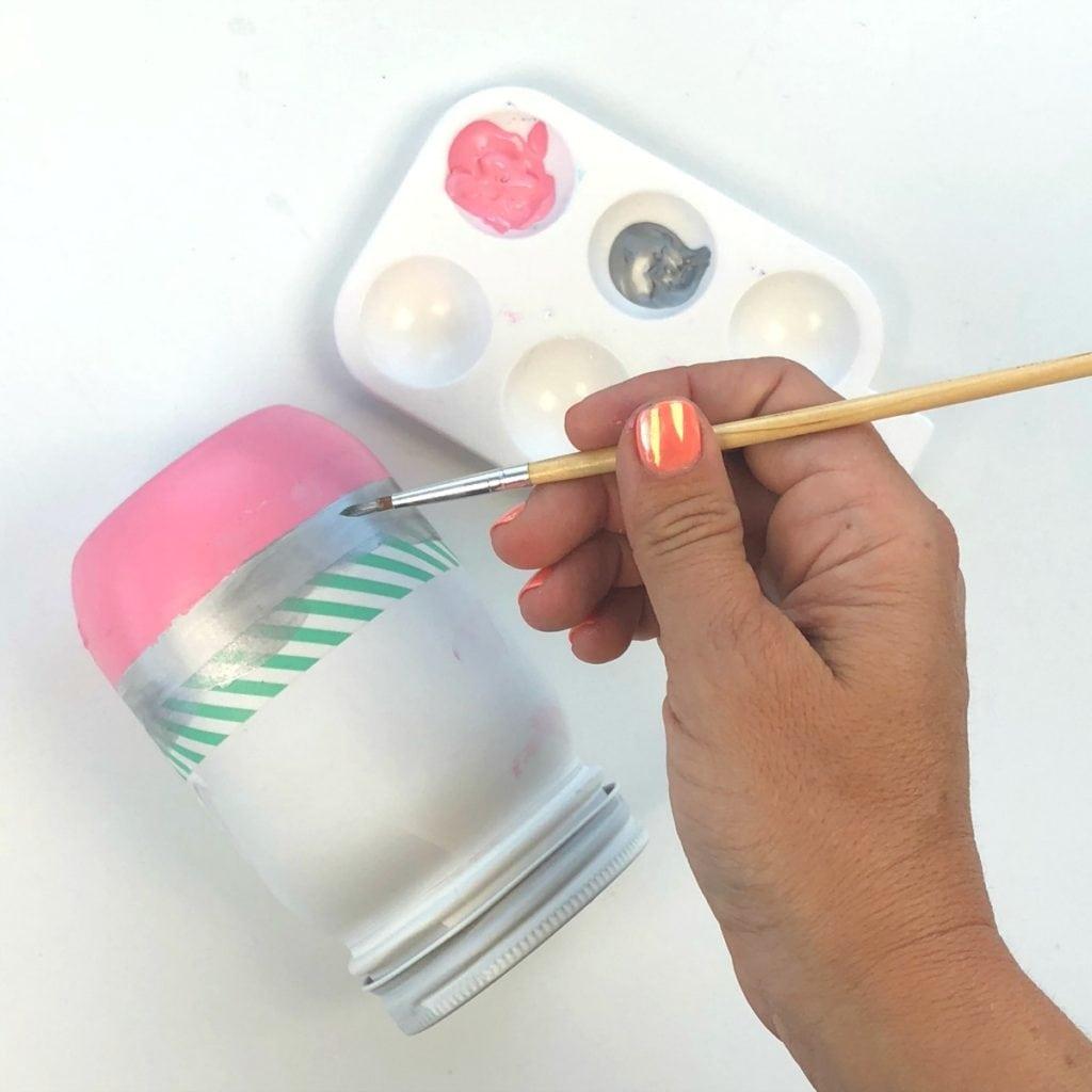School Supplies Mason Jars Craft - Teacher Appreciation, School Supplies Storage, Teacher Gifts