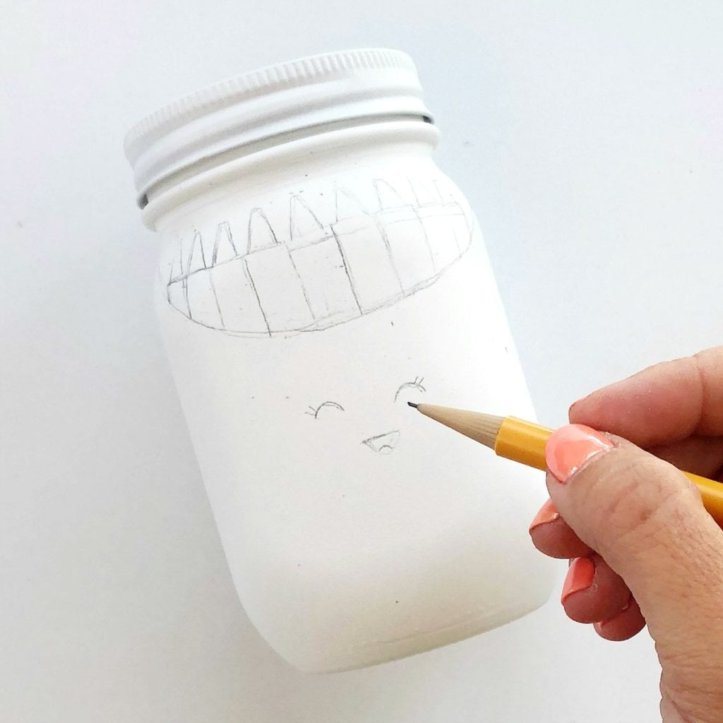 School Supplies Mason Jars Craft - Teacher Appreciation, School Supplies Storage, Teacher Gifts, Classroom Decor