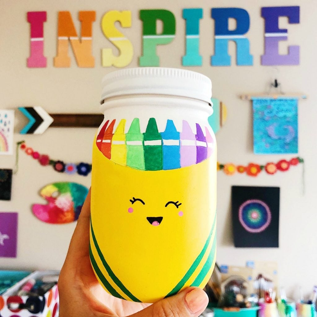 Mason Jars Craft For School Supplies Color Made Happy