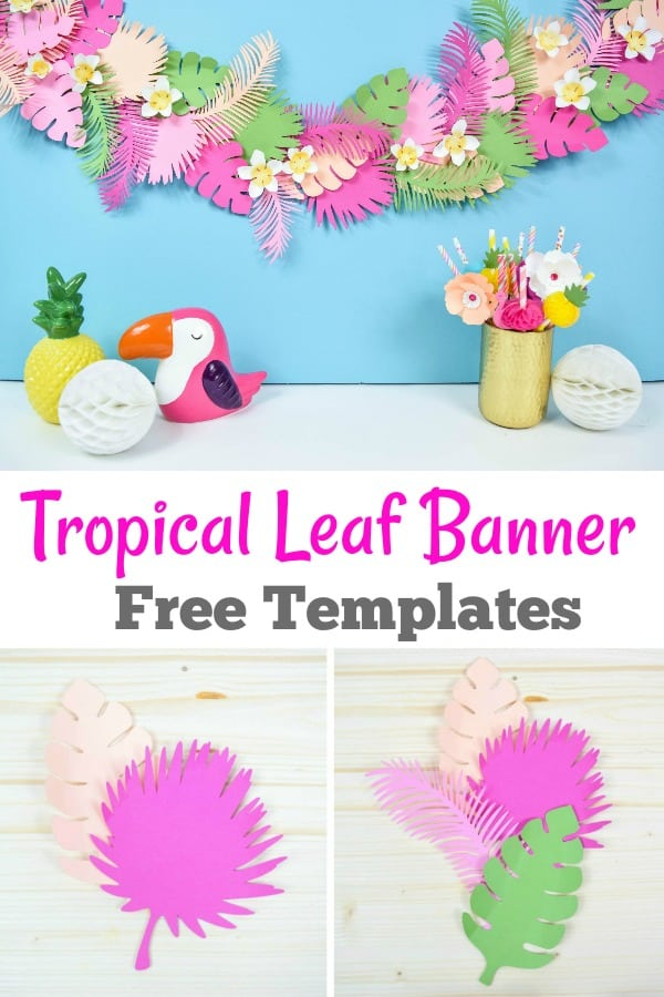 Tropical Leaf Banner Tutorial with Templates