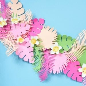 Tropical Leaf Paper Banner thumbnail