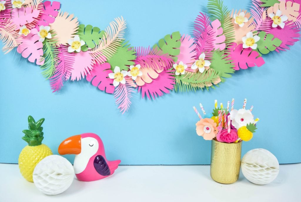 Tropical Leaf Paper Banner
