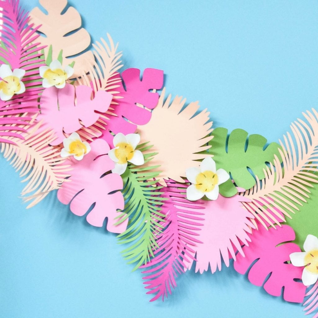 Tropical Leaf Paper Banner Color Made Happy