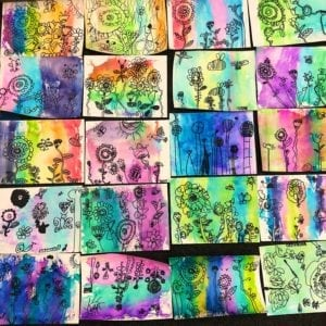 Kids Watercolor Painting With Markers thumbnail