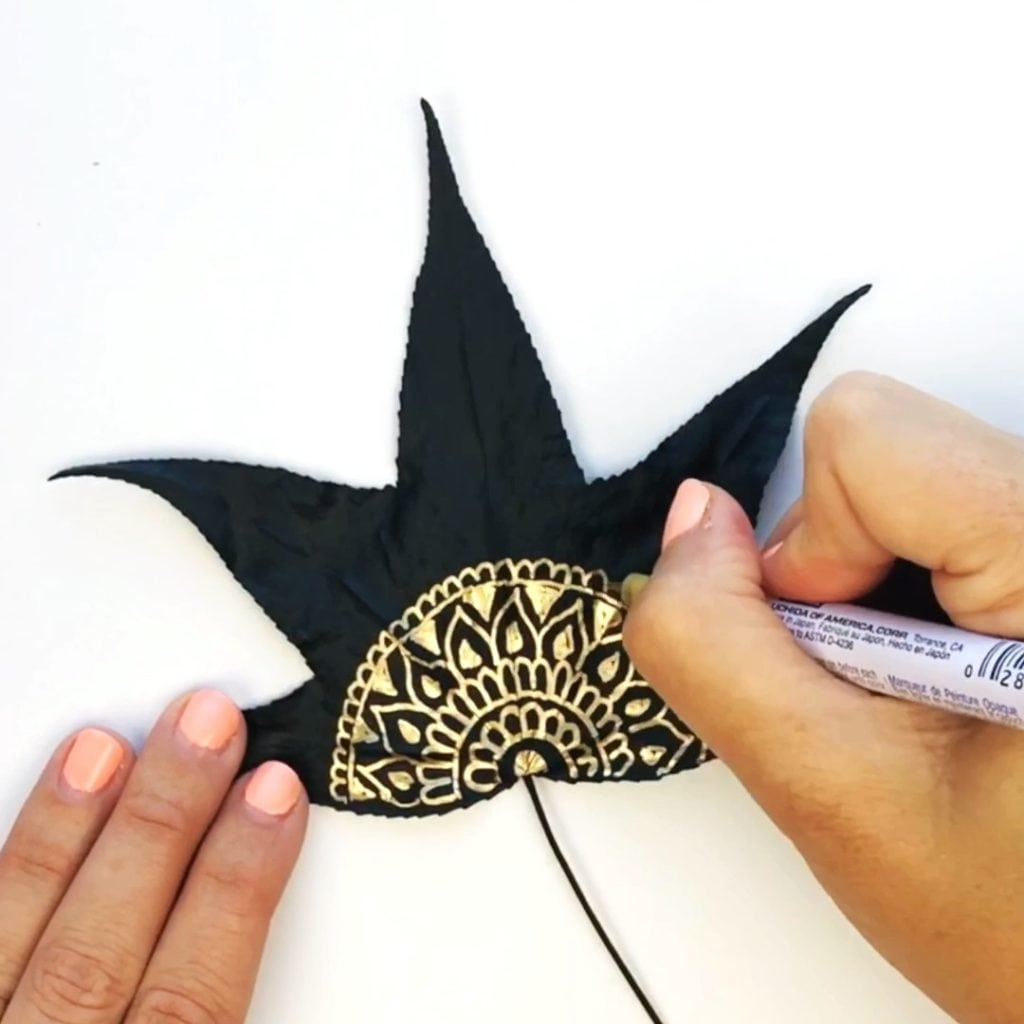 Metallic Leaf Art