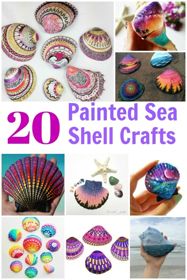Painted Sea Shells Crafts