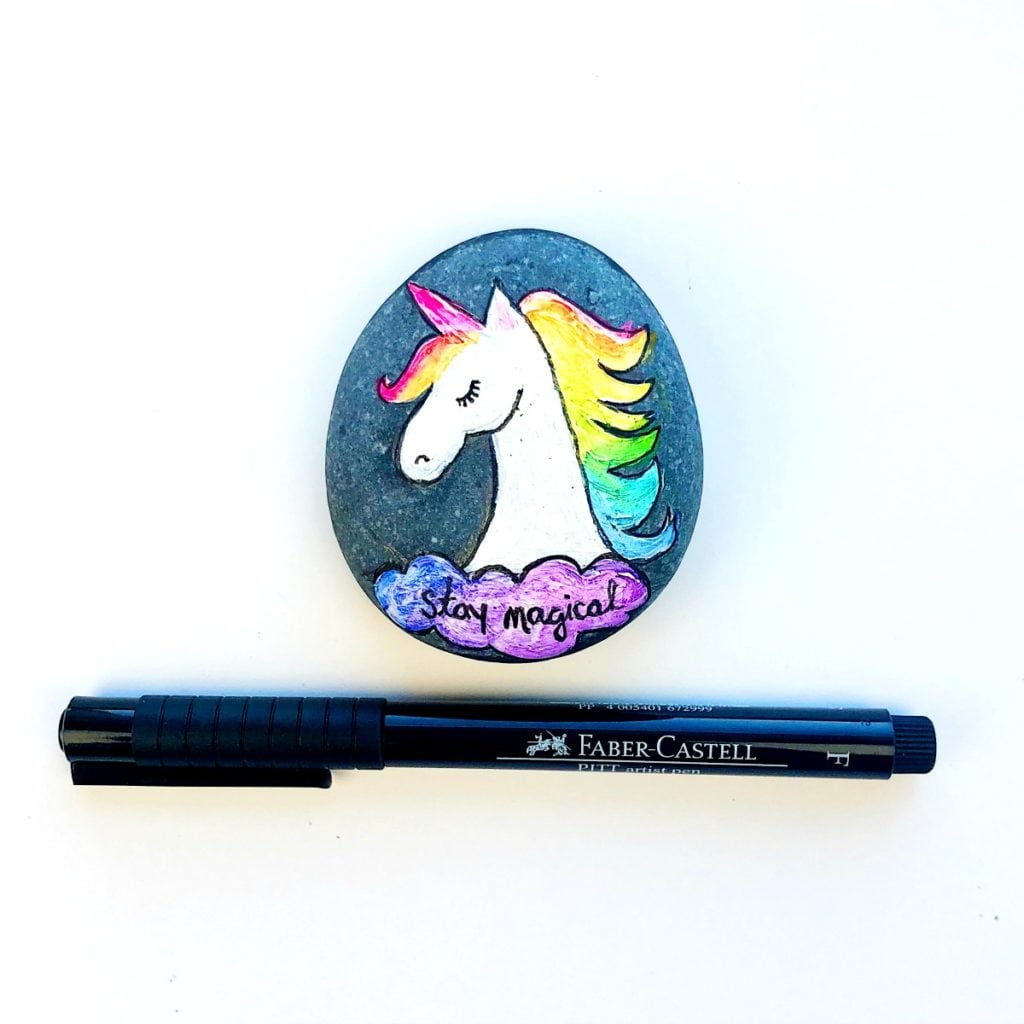 How to Paint Unicorn Rocks