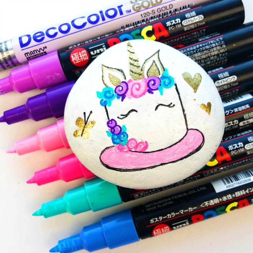 How to Paint Unicorn Rocks