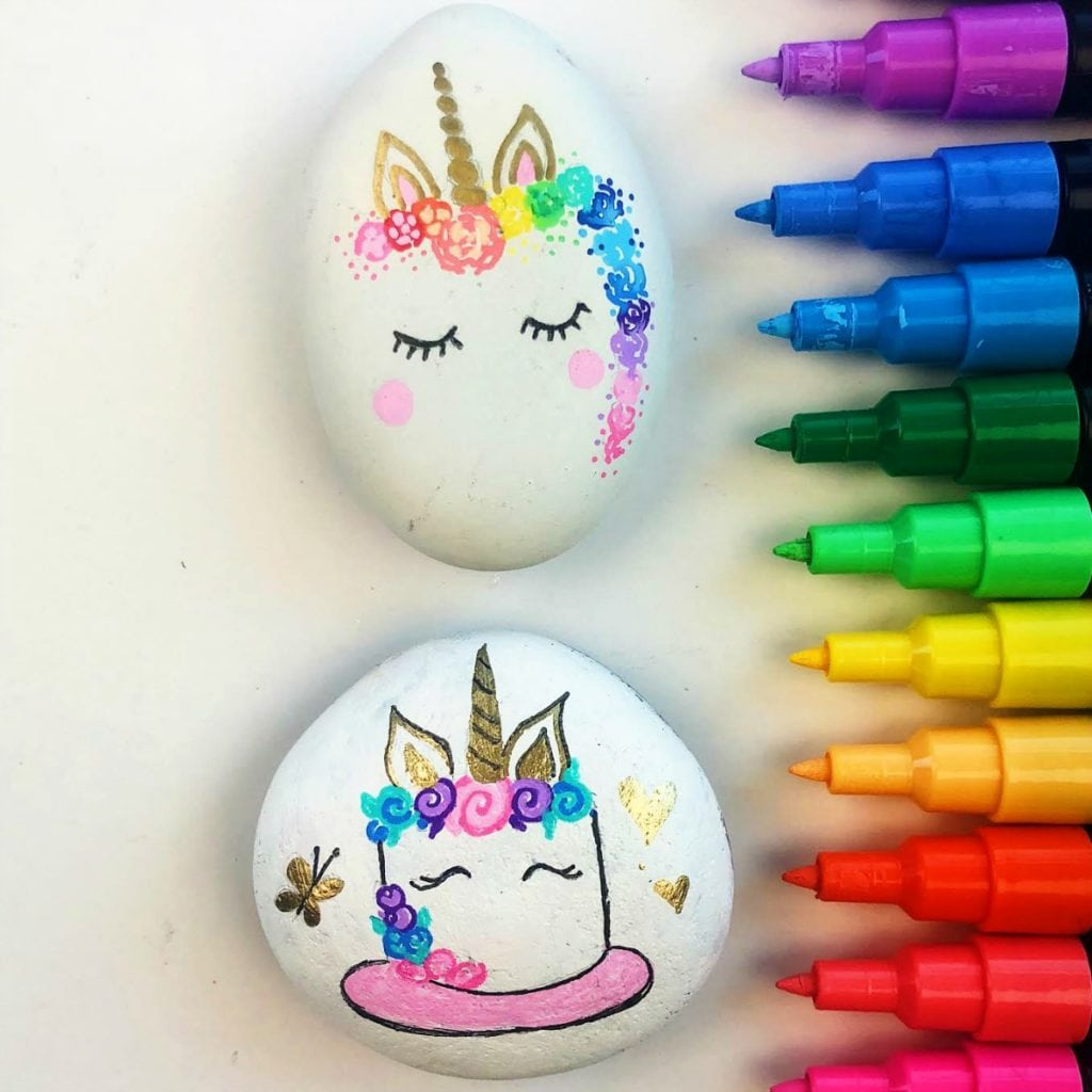 Unicorn Painted Rocks