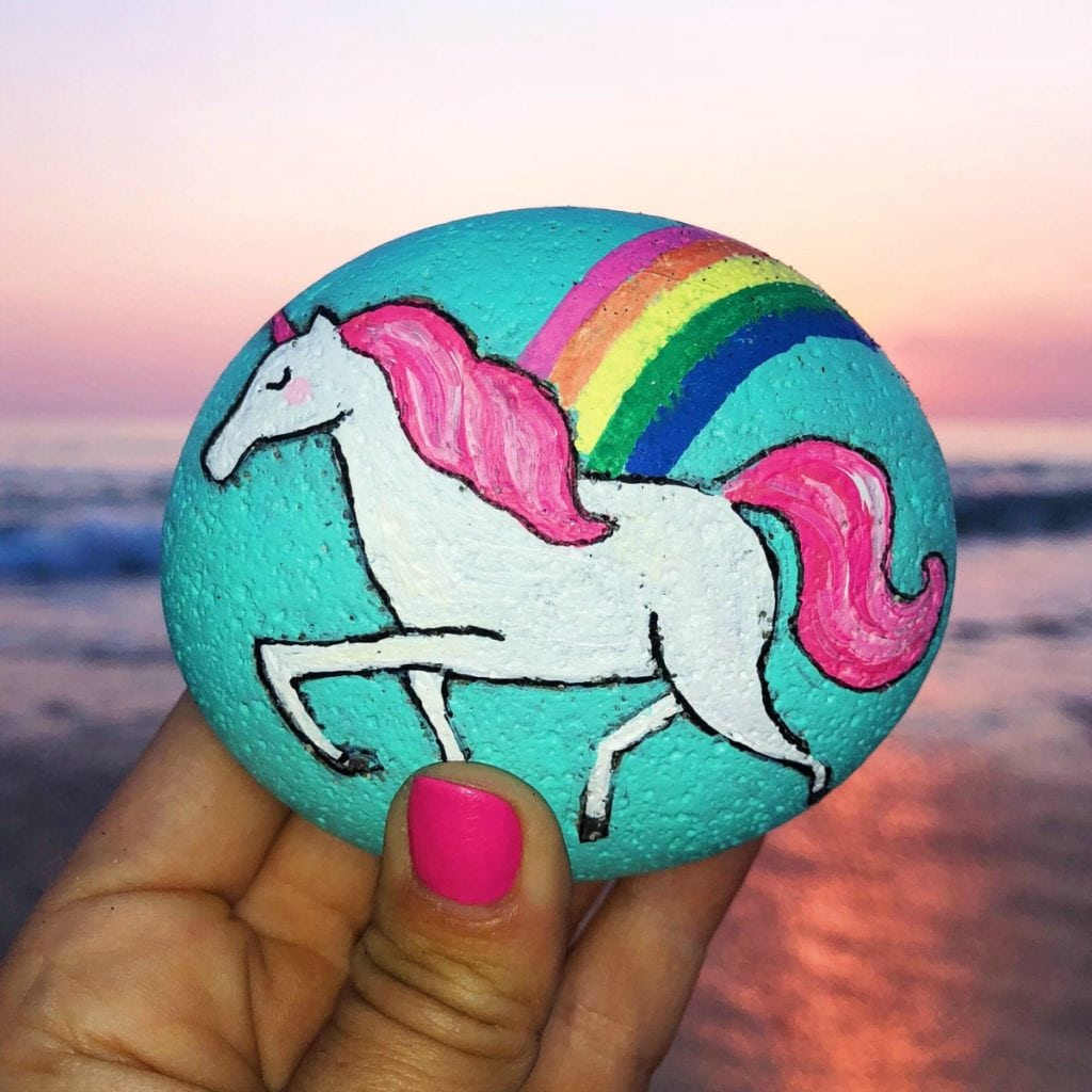 How to Paint a Unicorn Rock