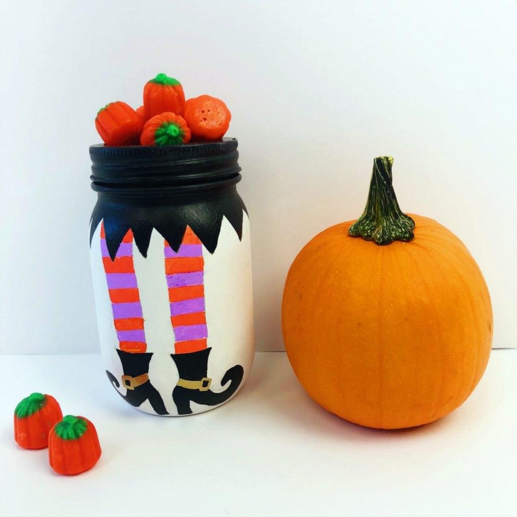 halloween mason jars craft • color made happy