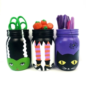 Halloween Mason Jars Craft