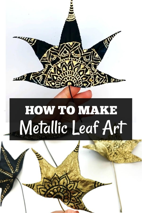 How to Make Metallic Leaf Art