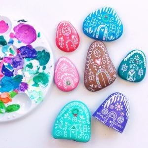 Painted Rock Gingerbread Houses thumbnail