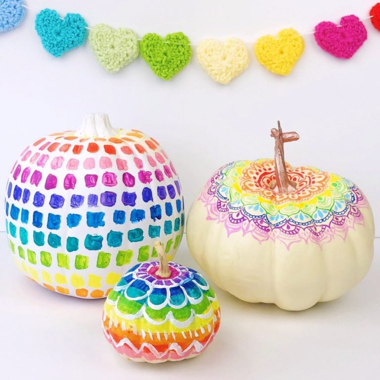 Rainbow Pumpkin Decorating Ideas