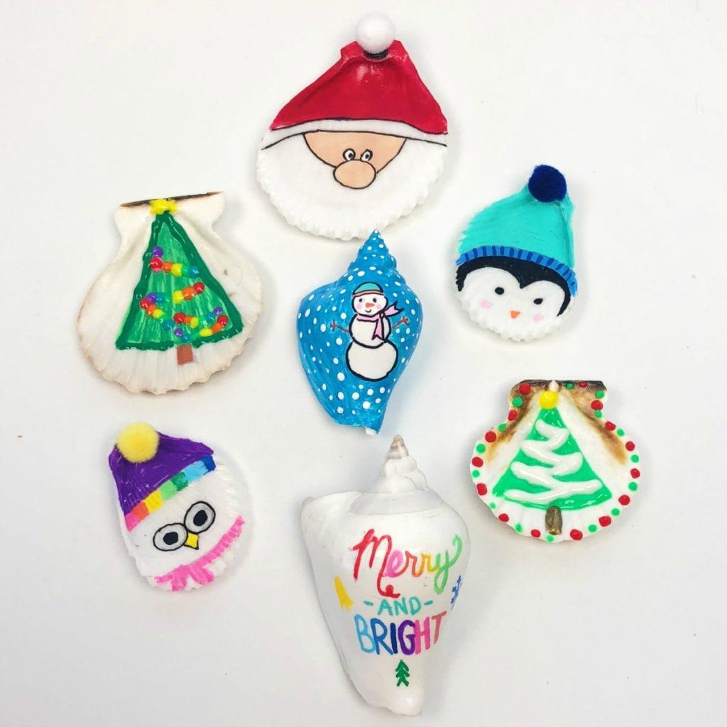 Christmas Shell Ornaments