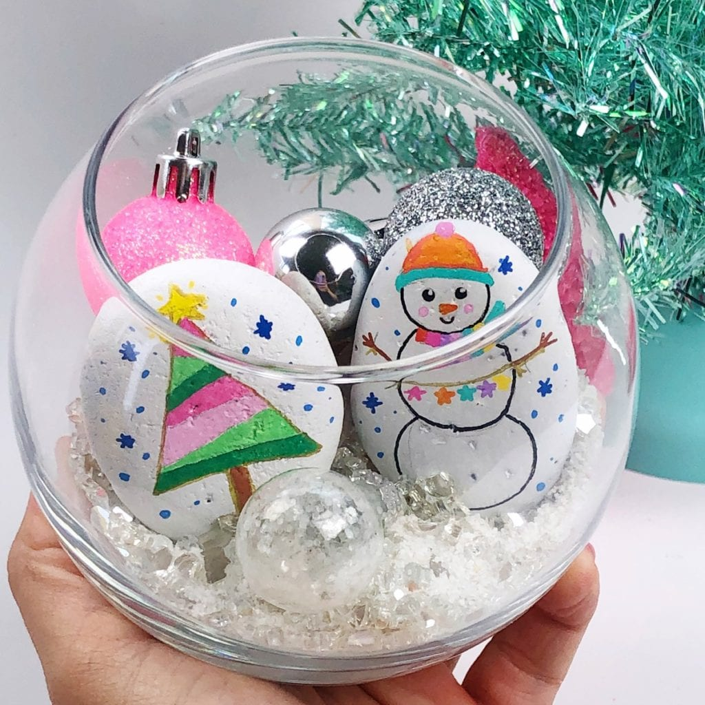 How to Display Holiday Painted Rocks