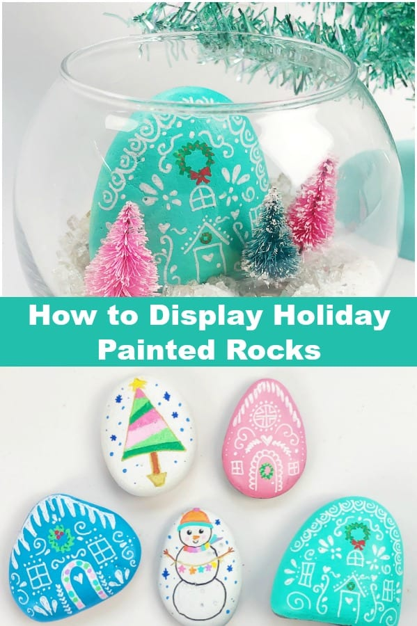 Holiday Painted Rock Display