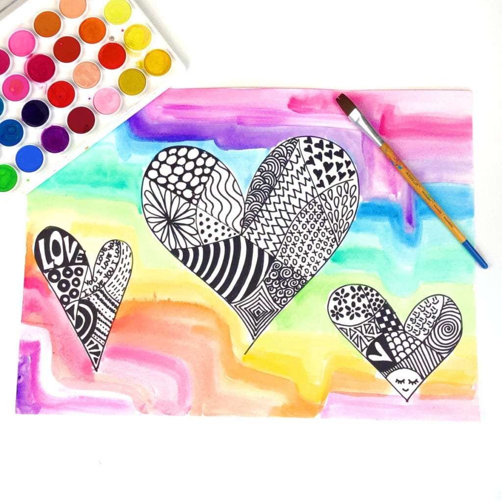 Easy Zentangle Art for Kids