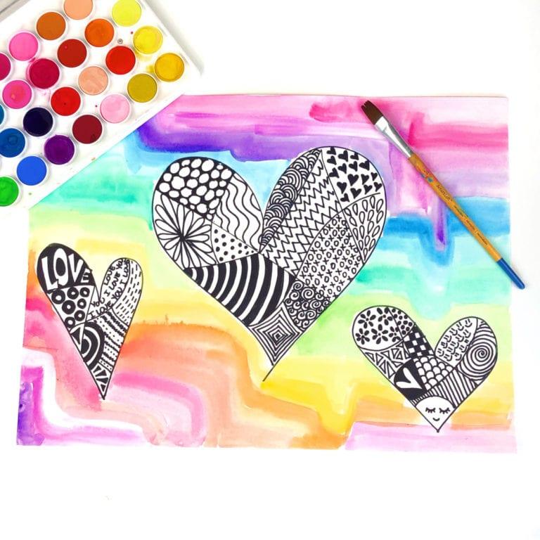 Easy Zentangle Art for Kids