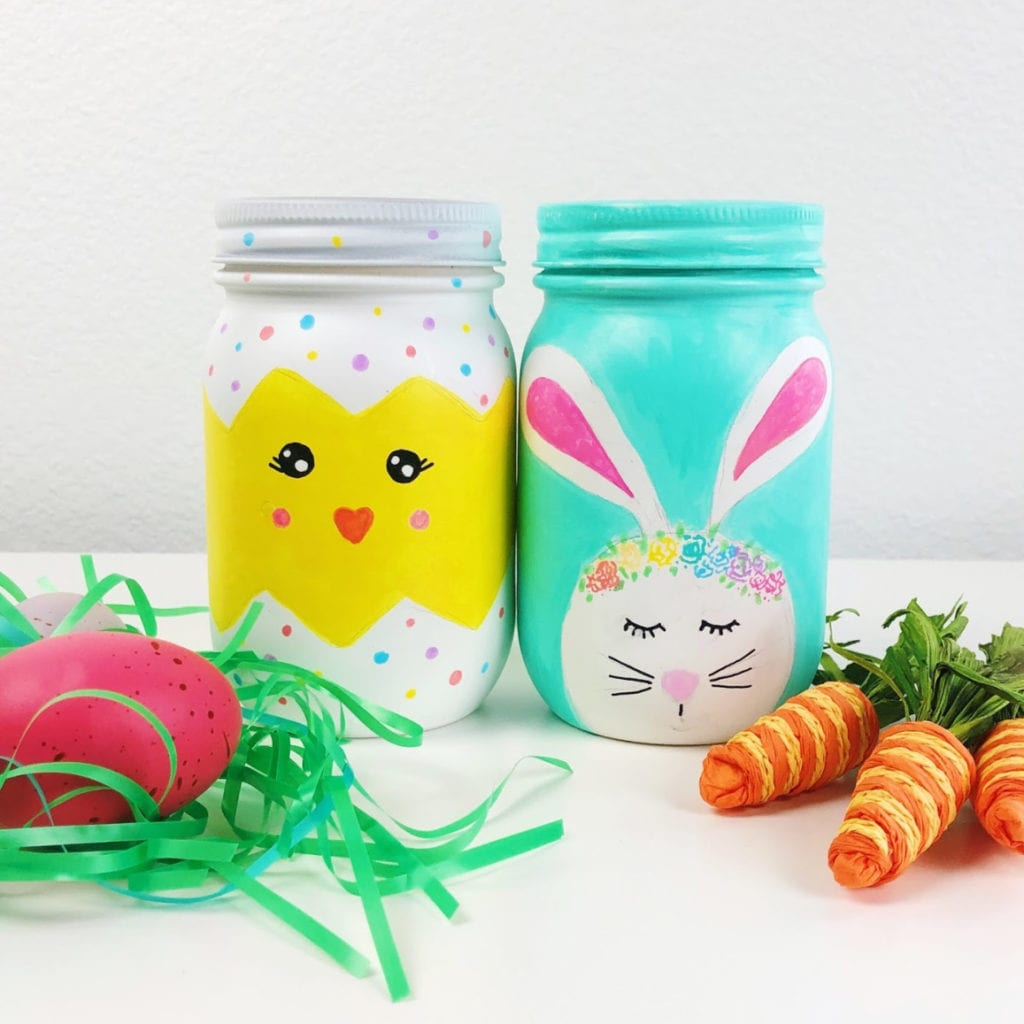 Easter Mason Jars Craft Ideas Color Made Happy