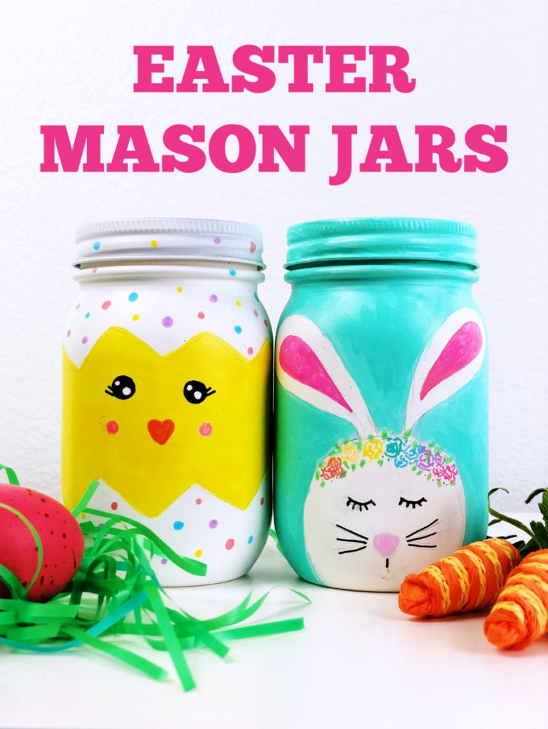 Learn how to make Easter Mason Jars with this step-by-step tutorial