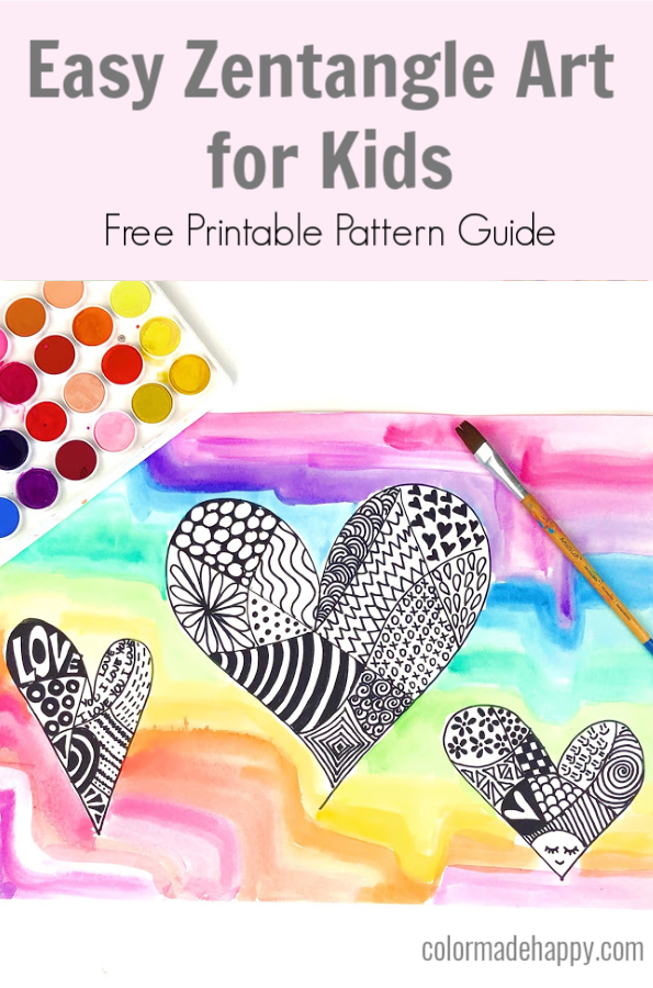 Easy Zentangle Art Lesson for Kids