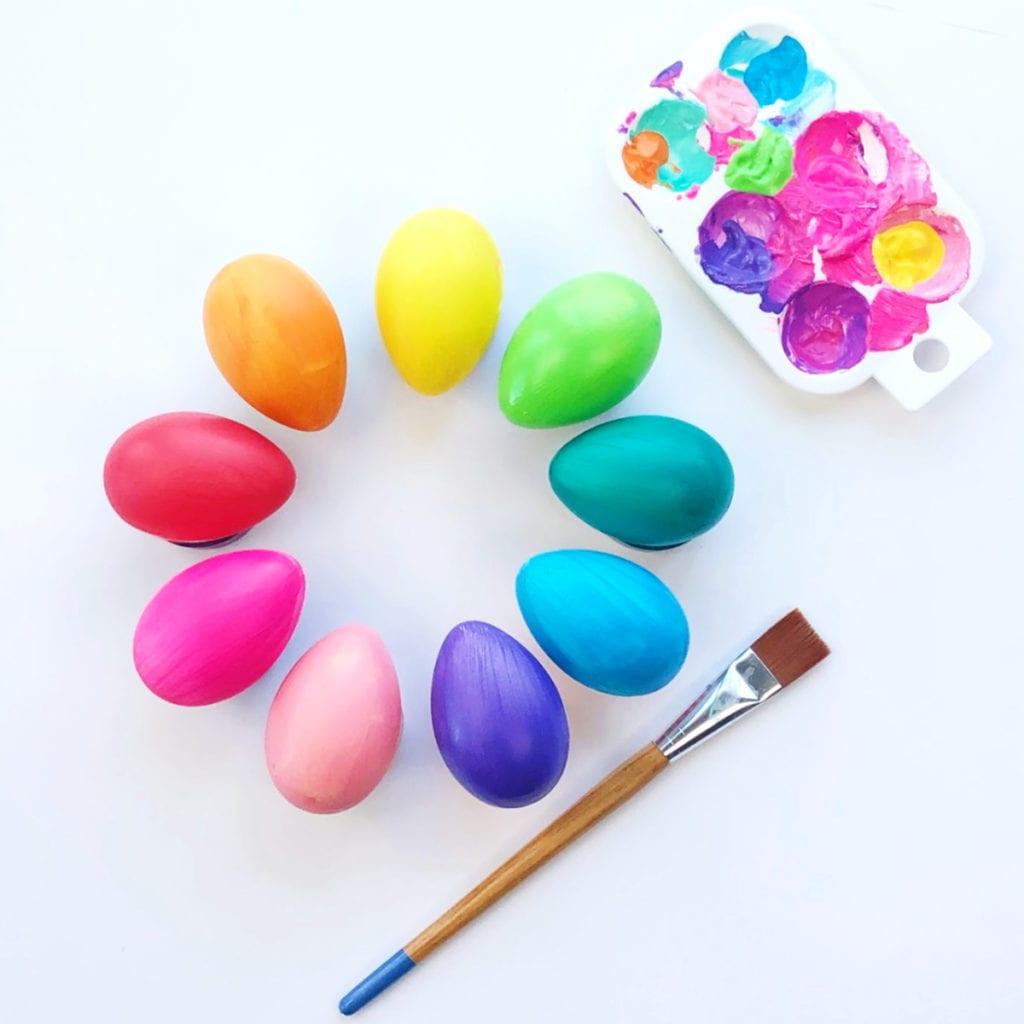 Painted Gradient Easter eggs