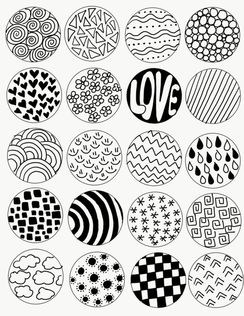 photograph relating to Zentangle Patterns Step by Step Printable known as Zentangle Artwork for Young children Challenge Colour Generated Delighted
