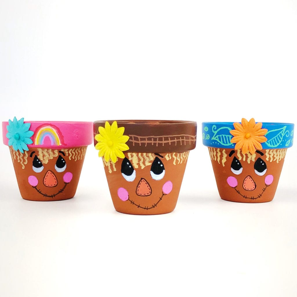 Scarecrow Flower Pot Craft