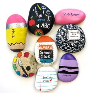Painted Rock Ideas – Back to School Rocks thumbnail