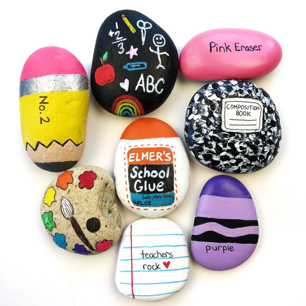 Painted Rock Ideas Back To School Rocks Color Made Happy