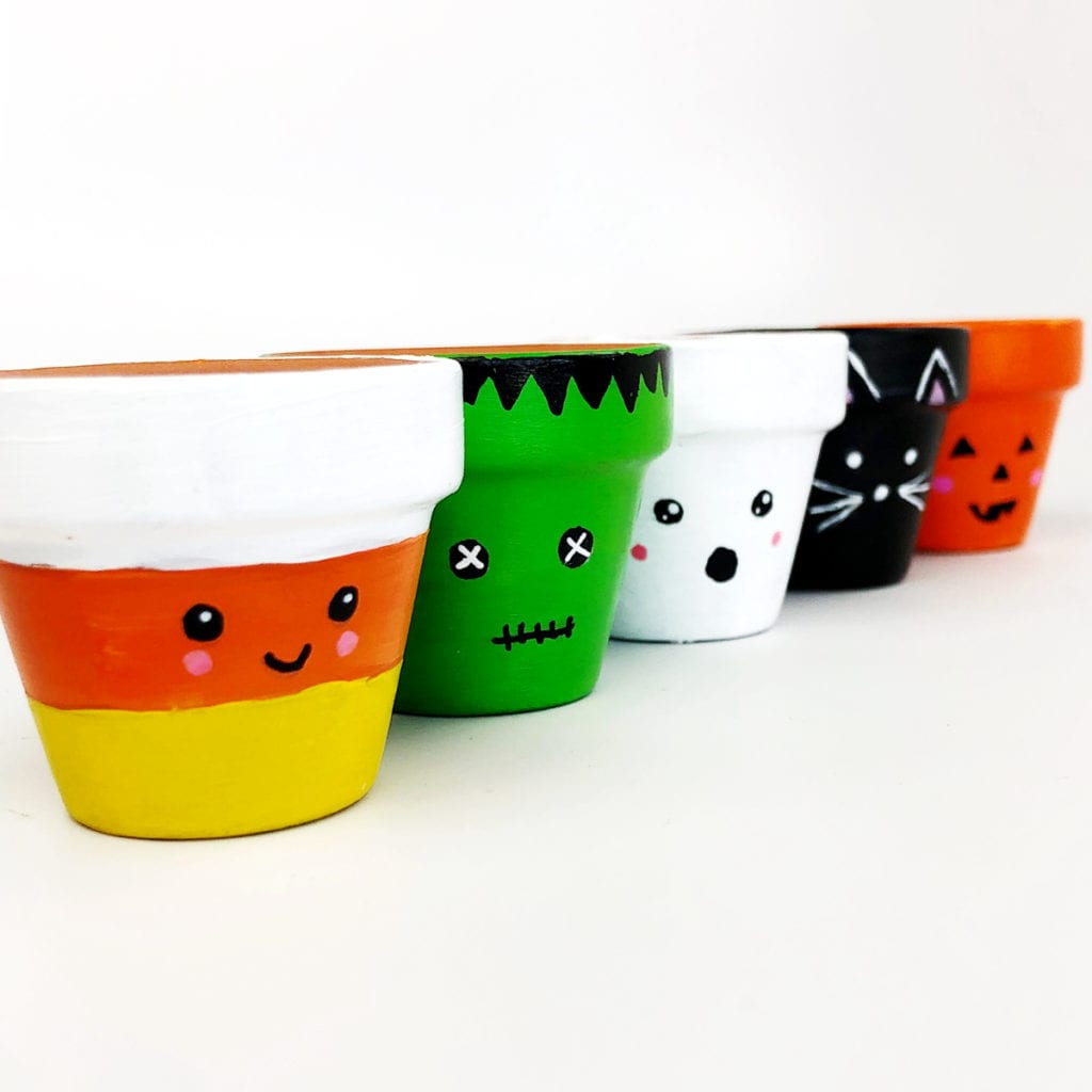 Halloween Flower Pot Craft