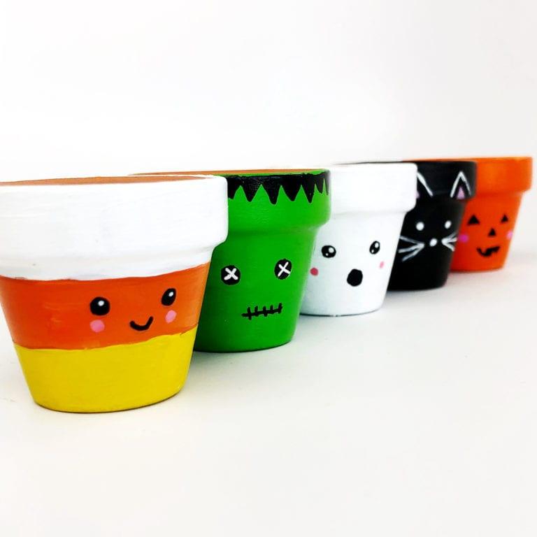 Halloween Flower Pot Craft