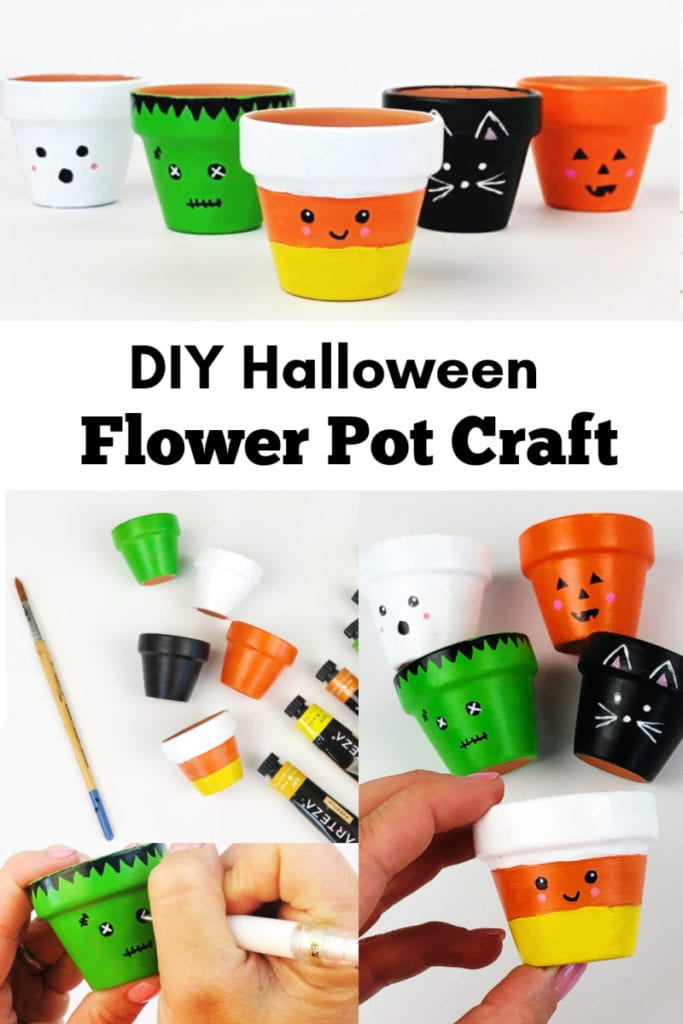 Halloween Flower Pot Craft Tutorial