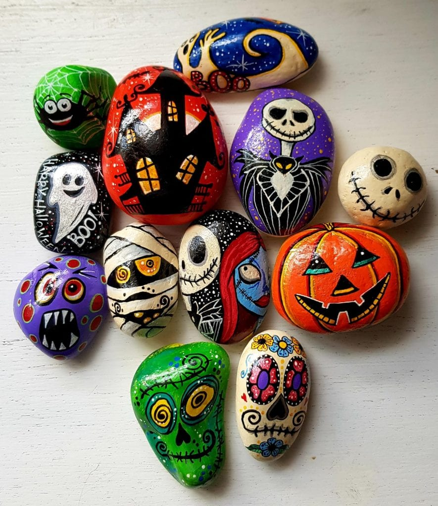 20 Halloween Painted Rocks Color Made Happy