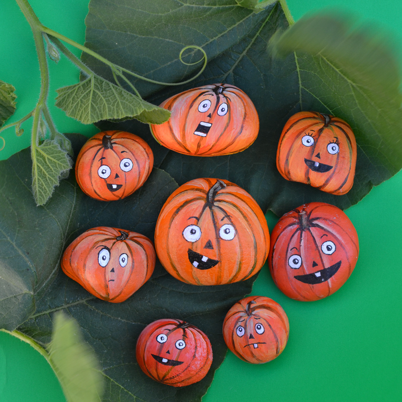Pumpkin Painted Rocks