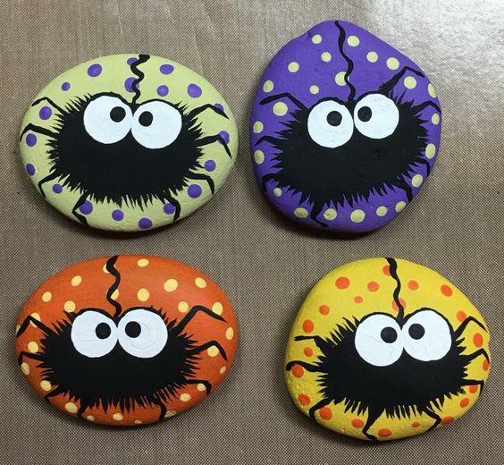 Spider Halloween Rocks