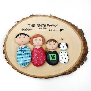 Painted Rock People Family Portrait thumbnail