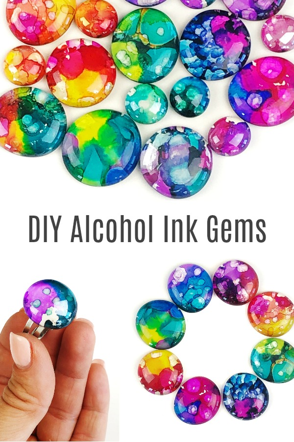 How to Make Alcohol Ink Gems
