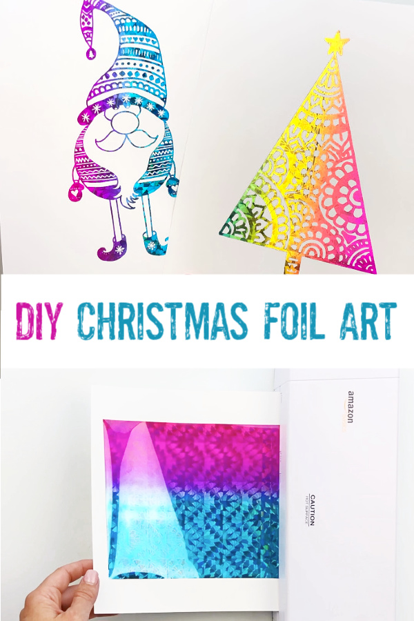How to Make Christmas Foil Art Prints