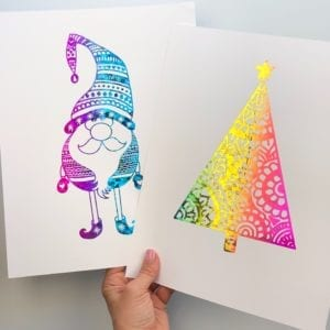 How to Make Christmas Foil Art thumbnail