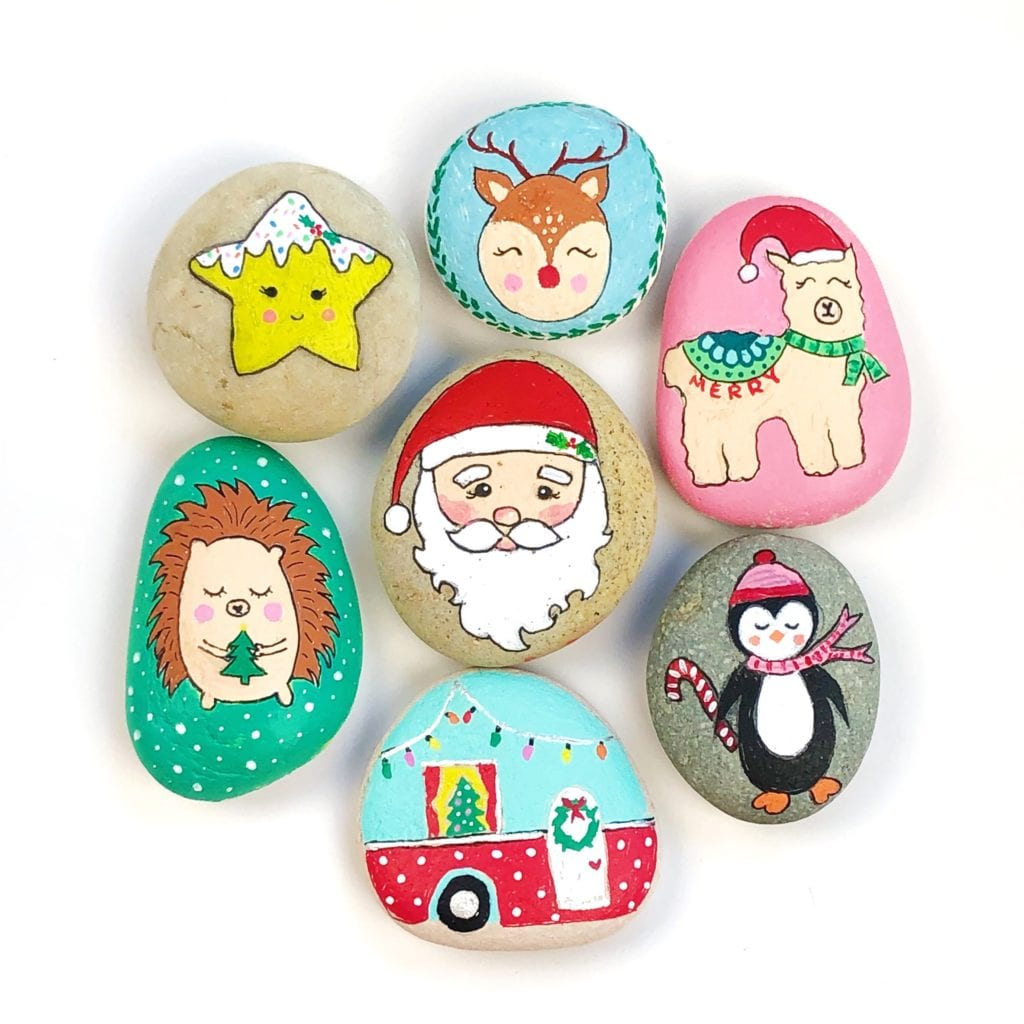 25 Christmas Rock Painting Ideas