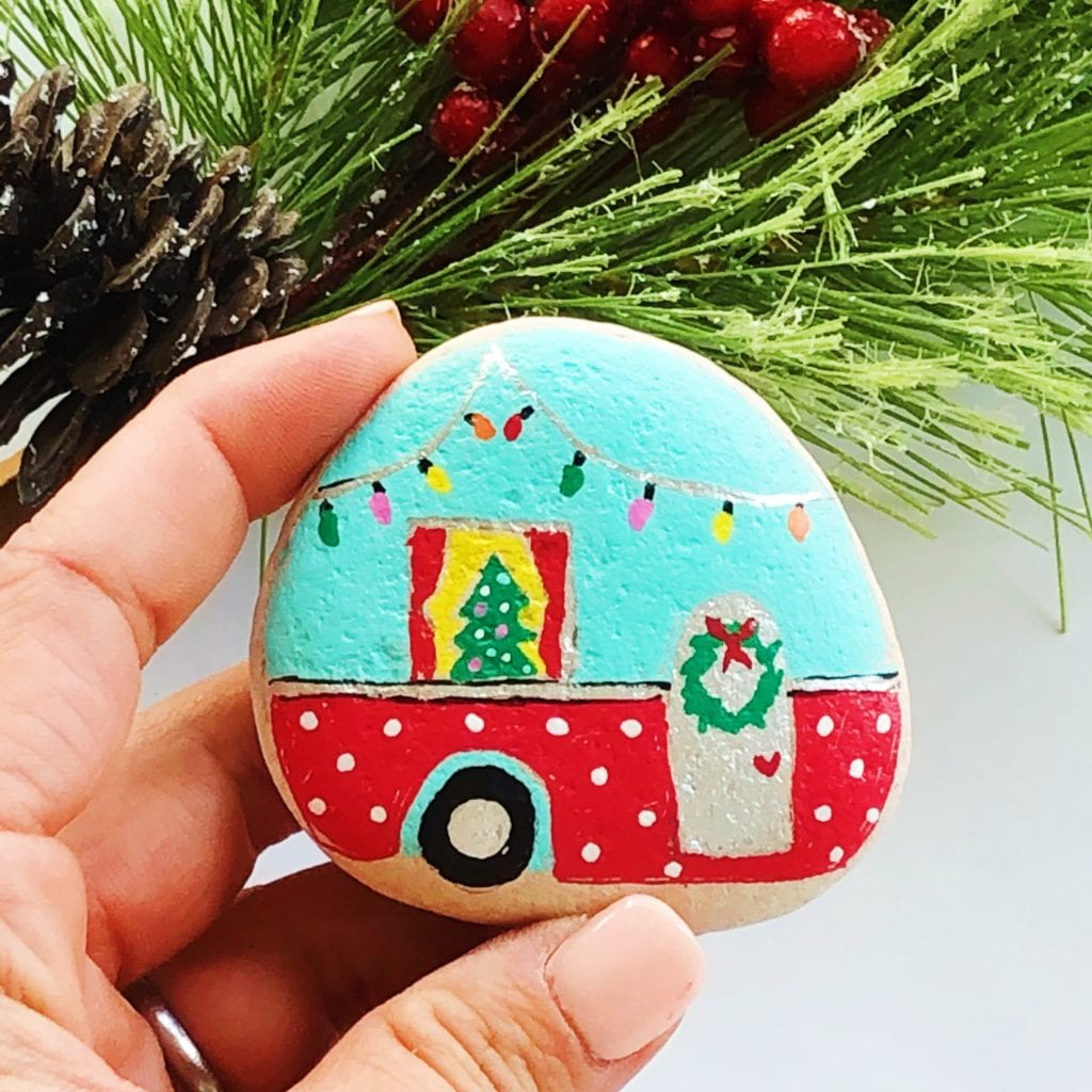 Camper Painted Rock Tutorial