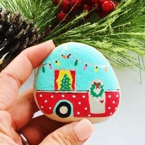 Camper Painted Rock Tutorial thumbnail
