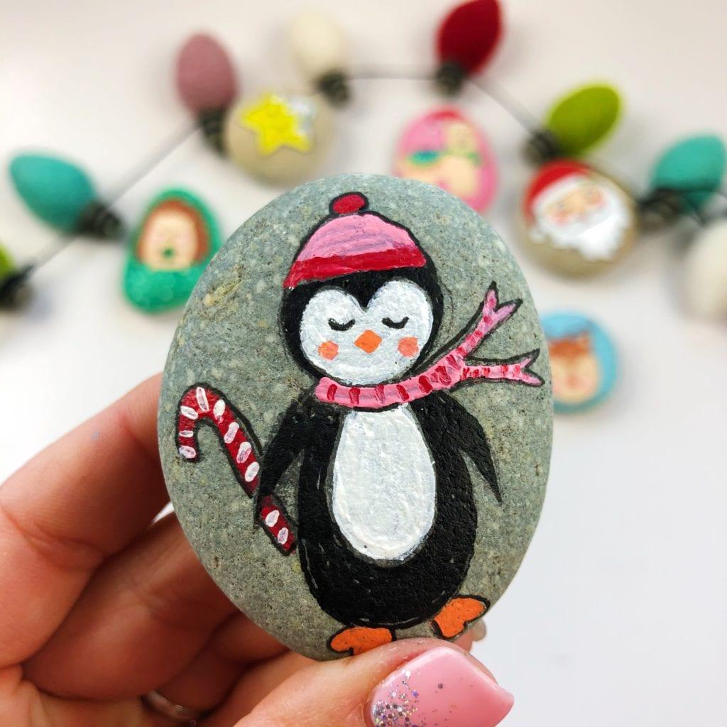 Penguin Painted Rock